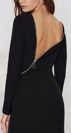Sexy zippered back