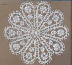 Onlarca Oda Takımı Modeli 1 Crochet Doilies, Crochet Lace, Doily Patterns, Crochet Patterns, Tatting, Sheep Tattoo, Crochet Table Runner Pattern, Bruges Lace, Point Lace