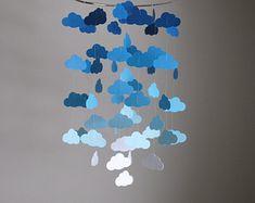 Mint/Türkis/Aqua Wolken Mobile / / von LittleDropsOfSun auf Etsy