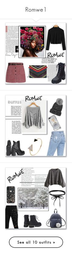 """""""Romwe1"""" by musicajla ❤ liked on Polyvore featuring Eugenia Kim, Kate Spade, Post-It, Concrete Minerals, Max Factor, Goody, Tiffany & Co., Yves Saint Laurent, NYX and Avon"""