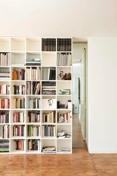 one day I need a bookshelf this big and full in my home.