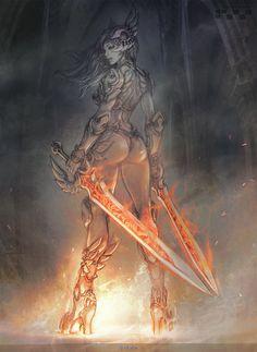 fantasy character 05, Stato Ozo on ArtStation at https://www.artstation.com/artwork/QKXX3