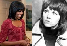 """1/27/14 - Michelle Obama Thinks """"Politically Savvy"""" Hanoi Jane Is A """"Role Model""""… 