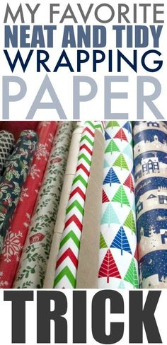 Keep your supply of wrapping paper tidy by keeping it from unrolling with this super simple trick!