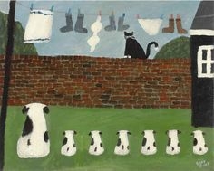 He sits up there and goes mee-ow He's furry fat and black Make sure you chase him everyday Because that thing is a cat. Gary Bunt.