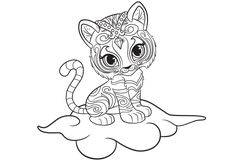 Shine and Shimmer Coloring Pages Printable