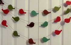 Bird Paper Garland Party Garlands Holiday Decor Mantle
