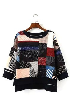Patchwork Sweatshirt - US$27.95 -YOINS