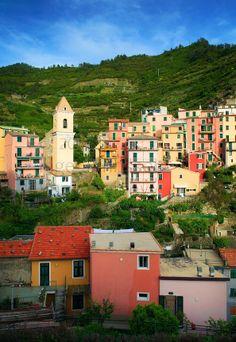 Town of Manarola in Italy's Cinque Terre national park