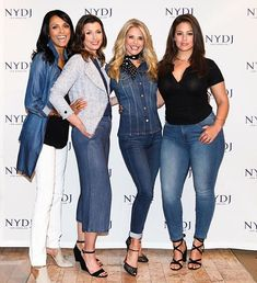 Ashley Graham on the far right. She is ALL woman!! How I want to make love to her!