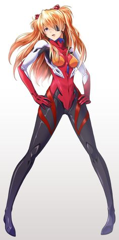 Asuka-Neon genesis evangelion art so cool Manga Anime, Comic Anime, Art Anime, Anime Comics, Anime Art Girl, Manga Art, Neon Genesis Evangelion, Neon Gas, Character Art