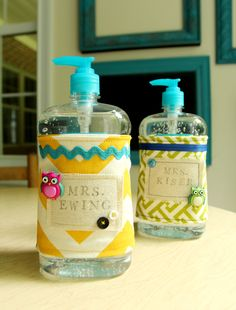 Less-Than-Perfect Life of Bliss: Teacher Sanitizer Bottle Wrap Revisited