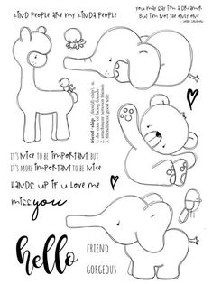 Look what I found on AliExpress Art Drawings For Kids, Doodle Drawings, Cute Drawings, Scrapbooking, Diy Scrapbook, Cheap Stamps, Tampons Transparents, Doodles, Ink Stamps