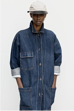 Fashion American Portraits Encens Magazine [ Jeans, For the People. Denim Overalls, Denim Outfit, Denim Coat, Denim Shirt, Shirt Jacket, Denim Jeans, Chambray, John Beck, Streetwear