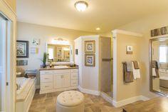 Walk-in shower - never clean a shower door ever again!