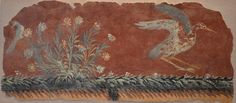 https://flic.kr/p/tsLcbm | Wall painting fragment with flowers and a bird, from a Roman villa around Mt. Vesuvius, before 79 AD, Badisches Landesmuseum Karlsruhe, Germany