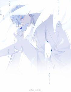 Thiên thần với đôi cánh màu trắng lịch lãm cùng với bộ vest rất ngầu