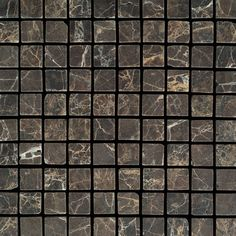 "View the Daltile M725-11MSTS1P Marble Emperador Dark 1"" x 1"" Tumbled Multi-Surface Mosaic Tile at Build.com."