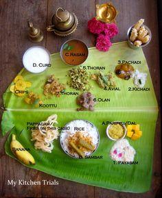 Sadya Raw Food Recipes, Indian Food Recipes, Vegetarian Recipes, Food Festival, Onam Festival, Veg Thali, Veg Pizza, Kerala Food, Singapore Food