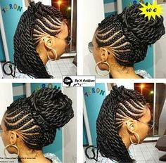 Crochet braid styles 324540716874958537 - Braids and twists Source by maloupilou My Hairstyle, Twist Hairstyles, African Hairstyles, Pretty Hairstyles, Protective Hairstyles, Goddess Braids, Beautiful Braids, Girls Braids, Braid Styles