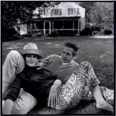 This is Love. Paul Newman and his wife Joanne Woodward at their home in Westport Connecticut. 1965. Bruce Davidson Photographer