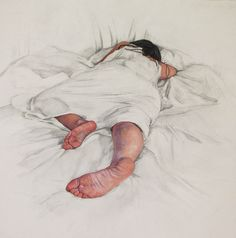 "Saatchi Online Artist: Erin Whitman; Pencil, Drawing ""Safety"" Figurative Art, Amazing Art, Sleepy Girl, Body Study, Saatchi Gallery, Life Drawing, Painting & Drawing, Pencil Art, Pencil Drawings"