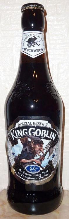 Cerveja Wychwood King Goblin, estilo Old Ale, produzida por Wychwood Brewery, Inglaterra. 6.6% ABV de álcool.