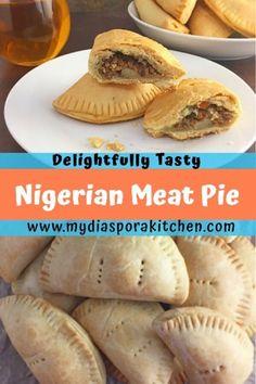 Delightfully Tasty Nigerian Meat Pie - My Diaspora Kitchen Baked Chicken Recipes, Beef Recipes, Snack Recipes, Cooking Recipes, Curry Recipes, Empanadas, Samosas, African Meat Pie Recipe, Recipes