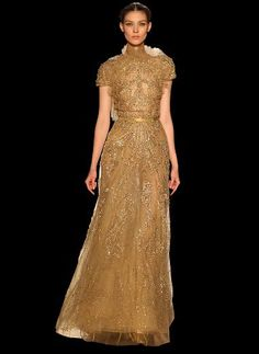 Gold! It will be a gilded fall.. Complete with sequins, paillettes, and glittered sheen! ♥ (As seen for Elie Saab)