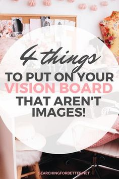 4 Things To Put On Your Vision Board (That Aren't Pictures!) - Searching For Better <br> 4 inspirational ideas on what you can put on your vision board that aren't images! These easy and simple ideas are great for your dream board in Vision Boarding, Beltane, Bullet Journal Vision Board, Goal Board, Creating A Vision Board, Images And Words, Picture Search, Mood, Searching