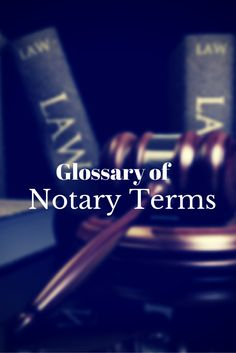 Do you know the commonly used notarial terms and abbreviations? Check out our list of Notary terms.