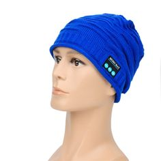 Bluetooth Knitted Music Hat Built-in Stereo Speakers Hands-free Winter Warm Beanie Cap