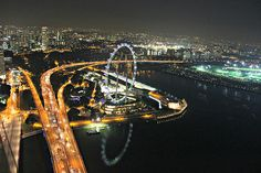 A busy Singapore night