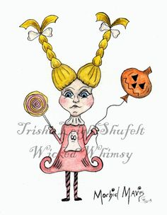 Morbid Mavis  Wicked Whimsy Series Trisha Leigh Shufelt (c) 2013