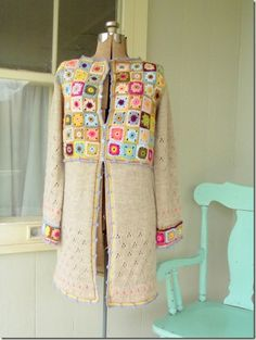 """If you have admired """"Lucy's"""" crochet  coat embellishment - this is the original that inspired her"""