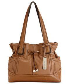 Tignanello Handbag, Leather Drawstring Shopper - Handbags & Accessories Orig. $179.00 Now $124.99 - Macy's