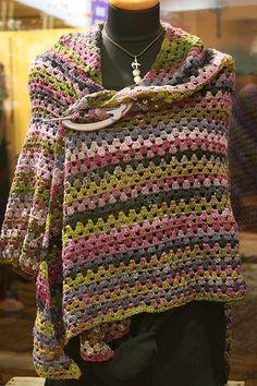 Ravelry: Wollsucht's Noro Kureyon Sockyarn shawl