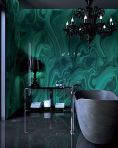 Malachite walls...
