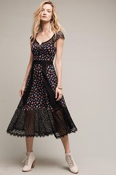 6b8afb0a4d NEW 598 Anthropologie Helena Lace Midi Dress Nanette Lepore Sz 6 Sold Out  Rare