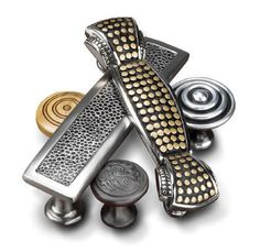Decorative hardware for cabinets in kitchens and baths provides a quick, easy, and cost effective upscale look!