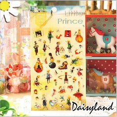 Little Prince Kids Stickers Cartoon Kids Birthday Label by Lauhome