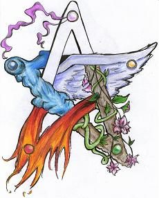 Elemental pentacle would make a cool tattoo!                                                                                                                                                                                 Mais