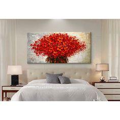 Pared Pintura Flor de La Mano del cuchillo de paleta Pintada flor 3D textura Pintados A Mano Óleo de la Lona Pintura de Pared Cuadros Para la Sala de estar