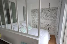 Paris 9 : rénovation d\'un studio de 26 m2 | Lofts, Bedrooms and Studio