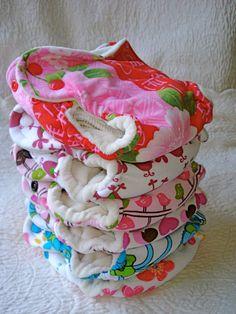 6-pc newborn fitted cloth diaper bundle via Etsy
