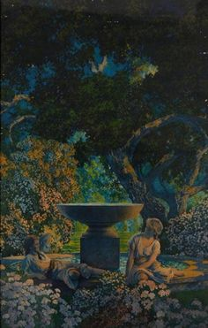 "Maxfield Parrish:  ""Reveries"""