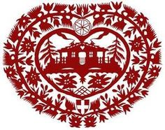 """Designed by """"Angel des montagnes"""" Alpine Style, Kirigami, Northern California, Paper Cutting, Folk Art, Print Patterns, Arts And Crafts, Miniatures, Graphic Design"""
