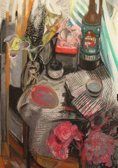 Богомолова Ольга. Манго и пионы. 2017. Пастель. 86х61 Still Life, Painting, Painting Art, Paintings, Painted Canvas, Drawings