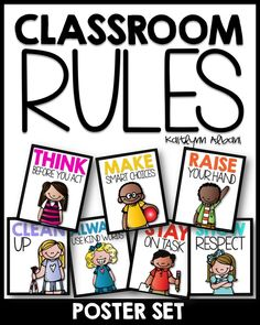 Classroom rules posters - 11 simple posters to remind your students of your classroom rules!