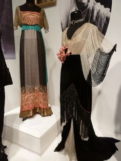 Latvia - Riga - Art Nouveau fashion exhibition - 26 by lynetter, via Flickr.  You may want to see my Flowing Fin de Siècle Finery board for much more of this...